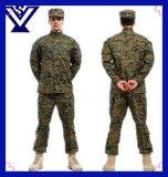 Uniforme 100% militaire d'armée de coton noir frais de camouflage (SYSG-242)