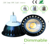 Eclairage à LED COB LED modulable Ce et Rhos Dimmable MR16 3W