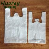 T-shirt plástico sacos de compras