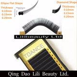 Lilibeauty 개인 상표 다이아몬드 모양 속눈섭 연장, 0.15mm & 0.20mm Tickness