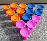 Tabaco Nargile Bowl Material de silicona conjunto Shisha Hookah Tazón Nargile Sisha Tubo de agua de cristal cigarrillo electrónico vaporizador Shisha Hookah