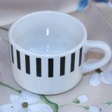 Tazza di ceramica impressa 10oz di ceramica del grossista della tazza