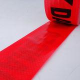 Для лучшей видимости красного цвета PE барьер лента сигнальная лента внимание ленту