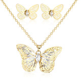 Juwelen van de Manier van de vlinder de In het groot Gele Gouden die in Recentste Ontwerp worden geplaatst