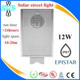 Lumière de rue solaire LED, lampe de route extérieure