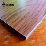 Clouded Ctc Certificated Outdoor PVDF Coating Wood Grain ACP (2mm-6mm)