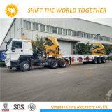 Sinotruk HOWO油圧上昇ロード40FT容器クレーントラック