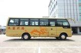 Microbús inferior de la estrella del vehículo de la conducción a la derecha de la consumición de combustible