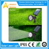 Luz impermeável da noite do sensor da energia solar da lâmpada do diodo emissor de luz do gramado do jardim