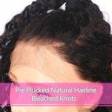 Джерри вьющихся волос человека спереди кружевом парики пред Plucked Corising волос для чернокожих женщин
