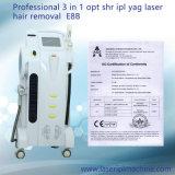 4 en 1 (l'IPL+RF+Elight +laser) Enlèvement de cheveux de rajeunissement de la peau dépose de la machine de tatouage