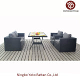 Tabella Sofa Set in Black per Outdoor (1307)
