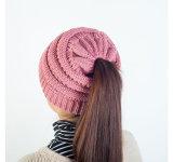 Cc Beanie Kniccurbocker пряжи из жаккардовой ткани Ponytail трикотажные Red Hat девушка зимой Red Hat