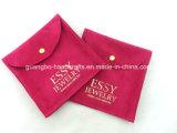 Kundenspezifisches Hot Pink und Gray Jewellry Printed Pouches