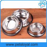 Cuvettes de câble d'alimentation de l'eau de cuvette de crabot d'animal familier de double d'acier inoxydable (HP-306)