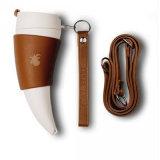 Tasse de café d'histoire de chèvre Tasse de voyage de corne avec la corde 350ml