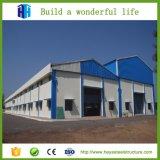 一階建ての構築デザイン鉄骨構造の倉庫のデッサン