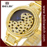 Madame de luxe montre d'alliage de montre-bracelet de femmes de diamant de léopard de mode de Belbi