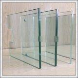 3-19mm lisos/curvou o vidro Tempered laminado para a porta dos trilhos/chuveiro, corrimão, cerca