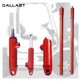 Único cilindro hidráulico personalizado de atuação usado na maquinaria da engenharia