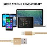 Cuerda extralarga trenzada de nylon del USB para el iPhone 6s, 6s más, 6plus compatibilidad Ios9
