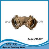 Ajustage de précision mâle droit avec la bride pour la pipe de PE (F08-601)