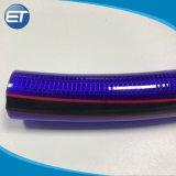Plastique renforcé de fibre flexible en PVC tressé de l'Irrigation Durit du tuyau flexible de jardin
