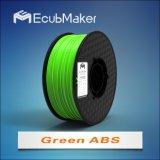 3D 인쇄 기계 녹색을%s 1.75mm 아BS 필라멘트