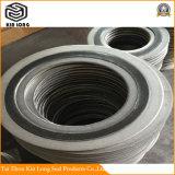Guarnizione della ferita di spirale della grafite del metallo; Guarnizione piana ASTM su ordine A403 Wp316 ASME B16.20 4 dell'anello della guarnizione a spirale della ferita ''