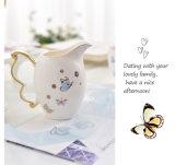 蝶陶磁器の骨灰磁器のコーヒーカップのコーヒーティーセット
