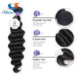 Орган волны 100% волос человека продление Черный Weft волос