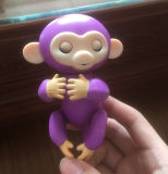 Amazonas-neue Fisch-interaktives Baby Monkeys intelligentes Fingerlings-Fallhammer-Spielzeug der Batterie-Lr44