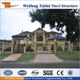 Alta calidad de materiales de construcción prefabricados de estructura de acero de la luz de Casa Villa