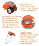 Poêle à gaz à double brûleur autochargeable pliable
