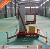 Het enige Platform van de Lift van het Werk van /Aerial van de Lijst van de Lift van de Lift van het Aluminium van de Mast Hydraulische