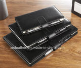 Soft Leather Cover Diary Business Writing Bloc-notes / Journal