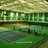 屋外のプロテニスは床を遊ばす