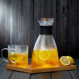 Borosilicat-Glas-Fruchtsaft-Potenziometer-Set passen Glaswasser-Krug-Glaskrug-Set an