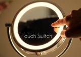 Sensor de 8,5 pulgadas LED Espejo de maquillaje con interruptor de contacto