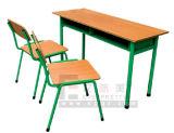 2017 최신 판매 고품질 분리가능한 학생 두 배 책상 & 의자