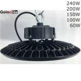 Iluminación LED desarrollado Golon nuevo de alta potencia 150W LED de luz de la Bahía de OVNIS alto para el uso de las luces de gimnasio