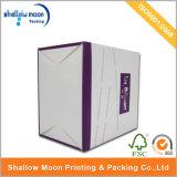Caja de papel modificada para requisitos particulares hecha a mano de la torta con la manija (QYZ010)