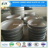 ステンレス鋼AISI 304は楕円形のヘッド管付属品の帽子を皿に盛った