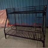 3 Pessoa Twin-Twin metálica preta Bed /Aço Pesado Triple Beliche