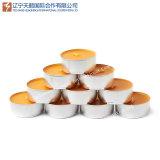 Bougie blanche d'Unscented Tealight de couleur en gros de fabrication