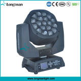 285W RGBW IP20 DMX LED Moving Head feixe de luz para o estágio