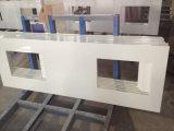 Comptoirs en quartz artificiel blanc pur pour la cuisine, la salle de bains, l'île