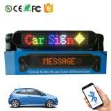 Segno di colore completo LED dell'automobile con il segno multilingue della visualizzazione programmabile LED dell'automobile di controllo P4-12X72RGB di Bluetooth APP