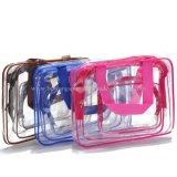 Les bagages de voyage pochette en PVC transparent clair personnalisé sac de toilette de voyage composent Sac cosmétique