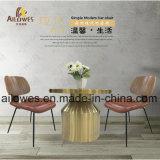 Металлическая мебель для отдыха золотого цвета из нержавеющей стали для приготовления чая и Кафе стороны положить конец таблицы